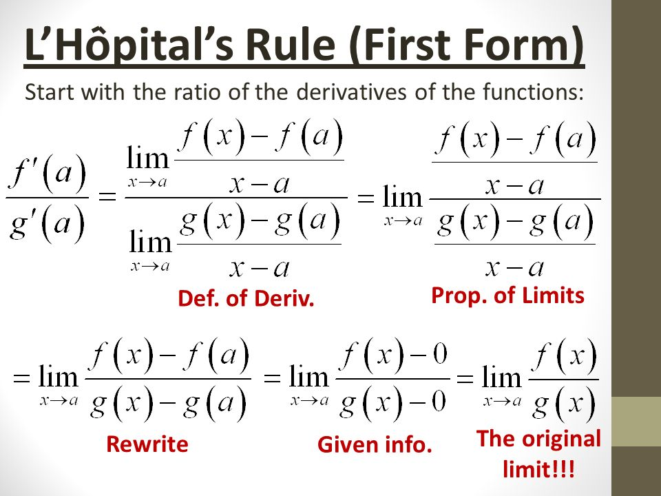 L'Hopital's Rule Section 8.1a. - ppt video online download