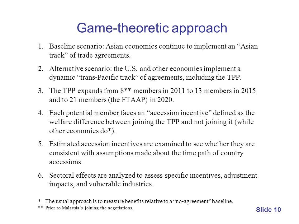 Game-theoretic approach