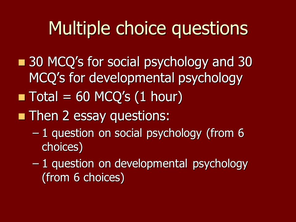 Psychology Thesis Topic Ideas