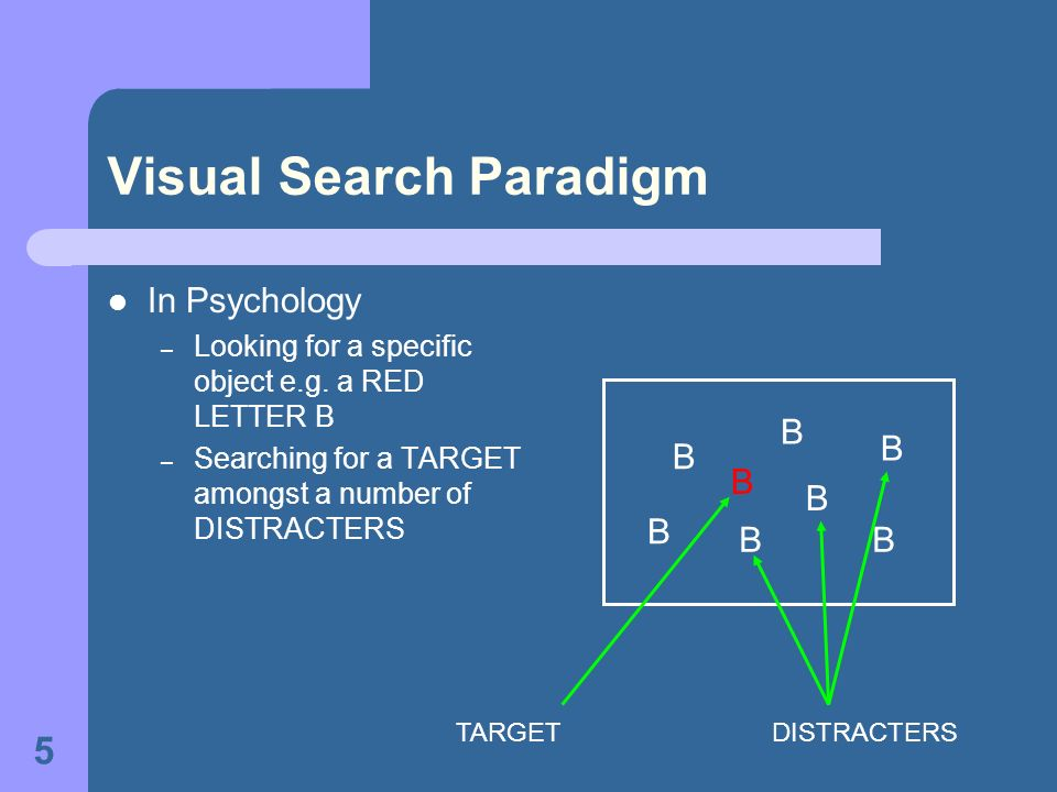 Visual Search Paradigm