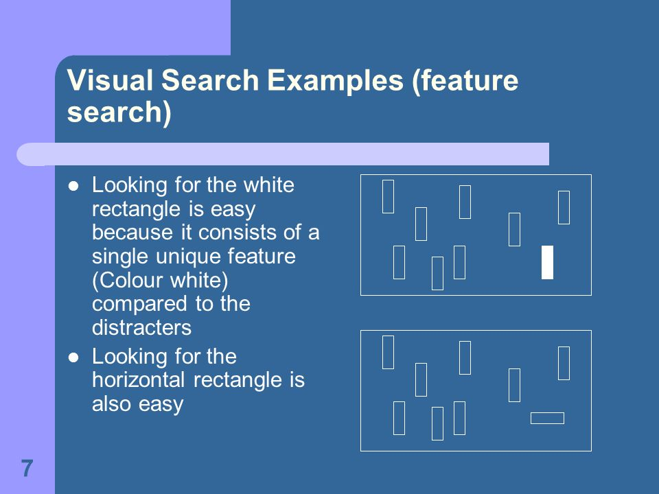 Visual Search Examples (feature search)