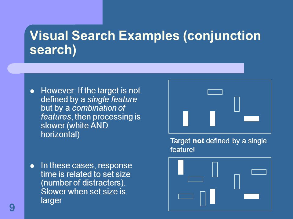 Visual Search Examples (conjunction search)