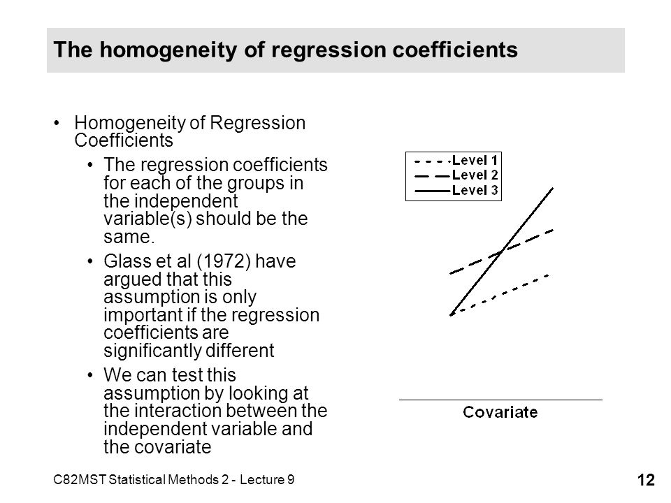 The homogeneity of regression coefficients