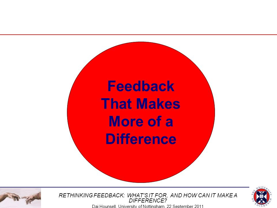 Feedback That Makes More of a Difference