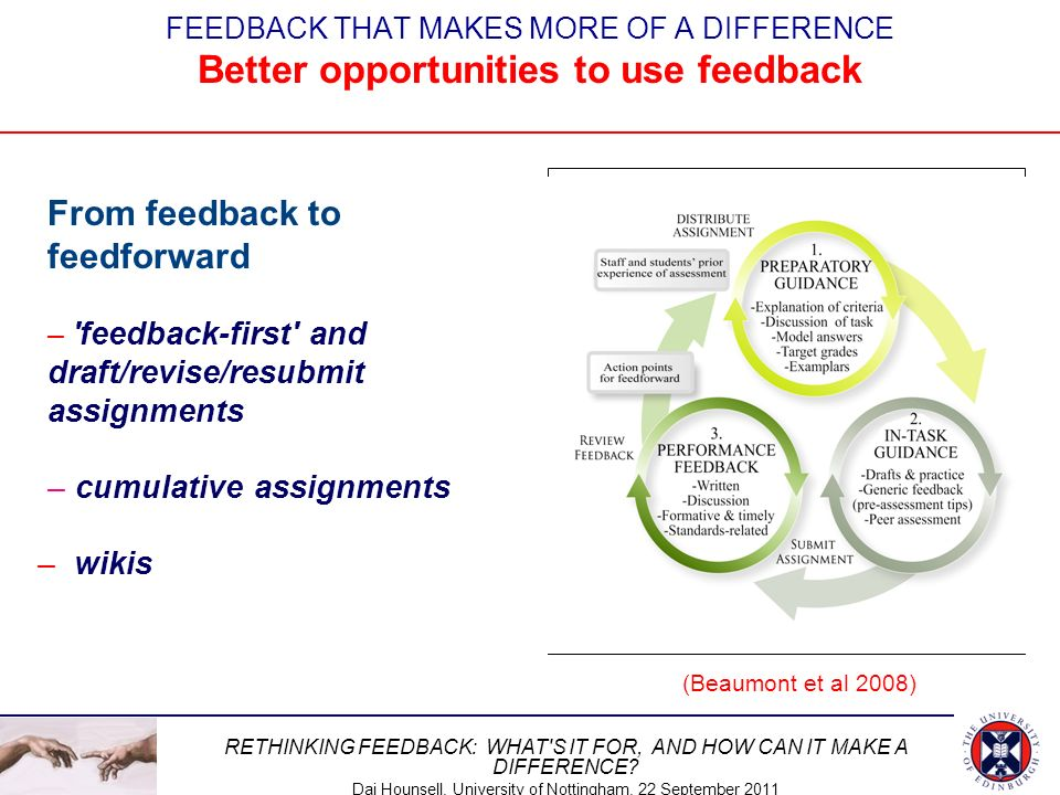 From feedback to feedforward
