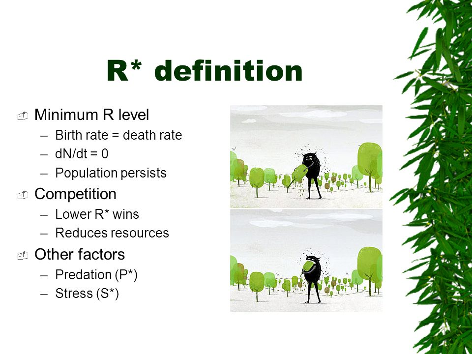 R* definition Minimum R level Competition Other factors