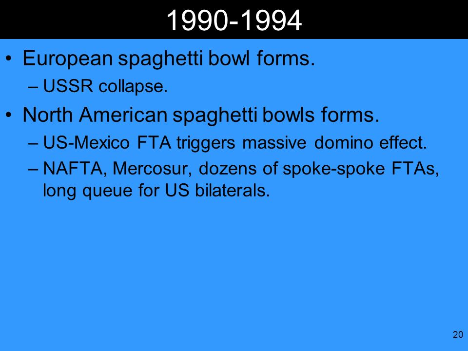European spaghetti bowl forms.