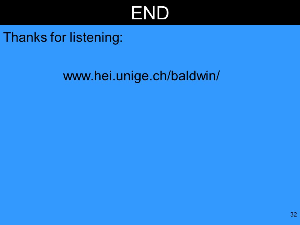 END Thanks for listening: