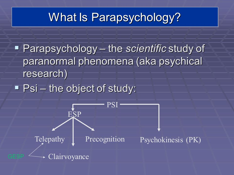 What Is Parapsychology
