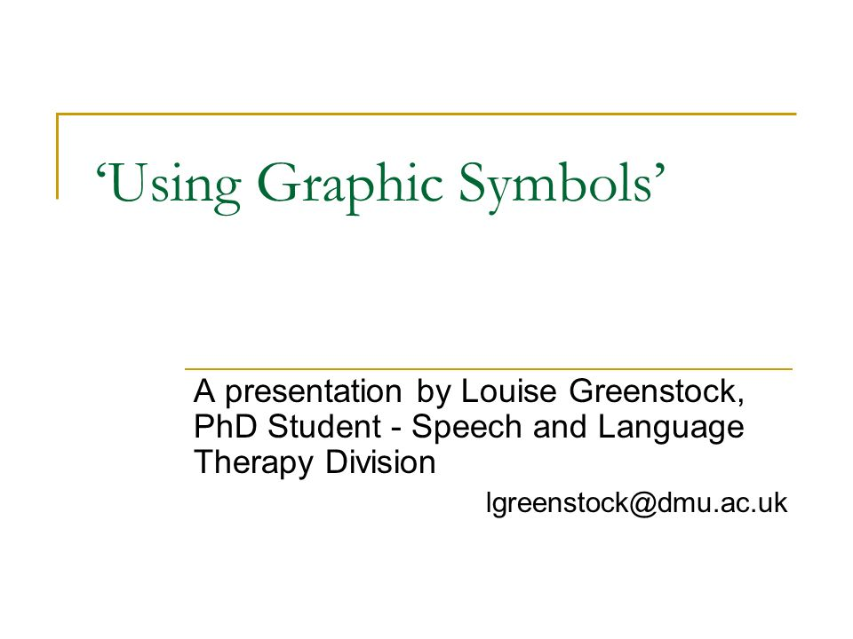 'Using Graphic Symbols'