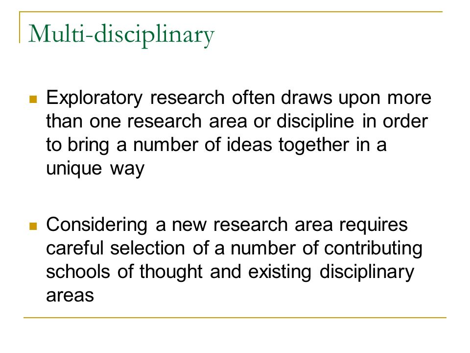 Multi-disciplinary