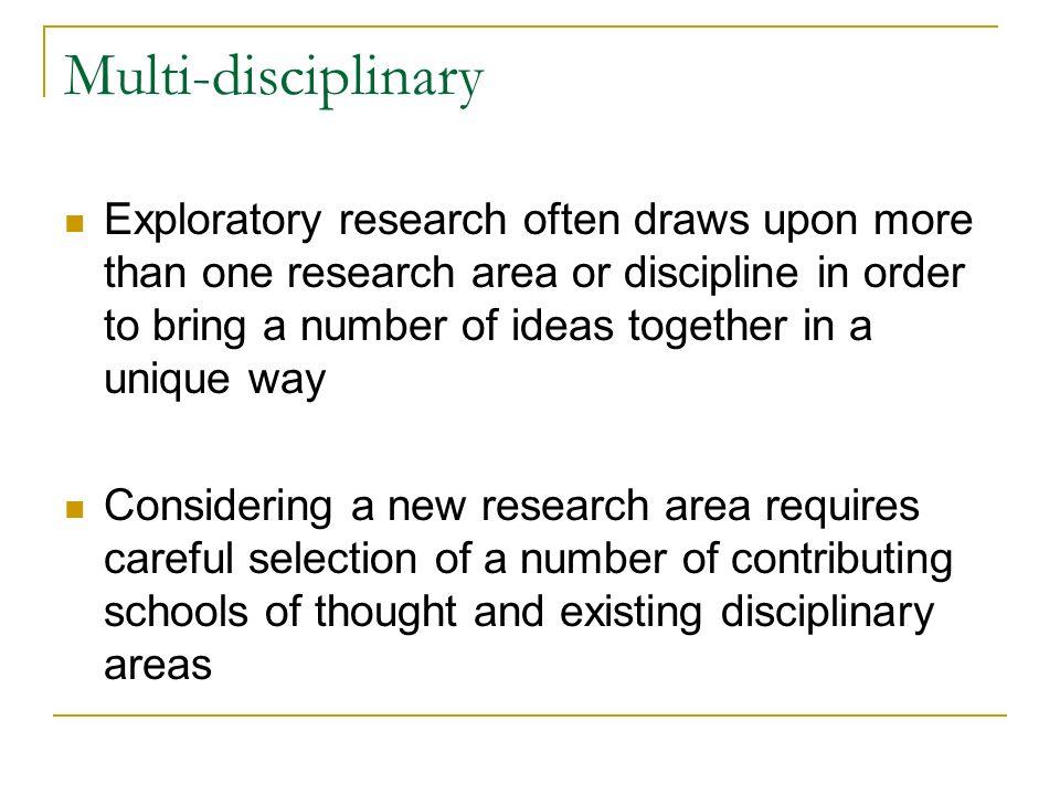 Multi-disciplinary