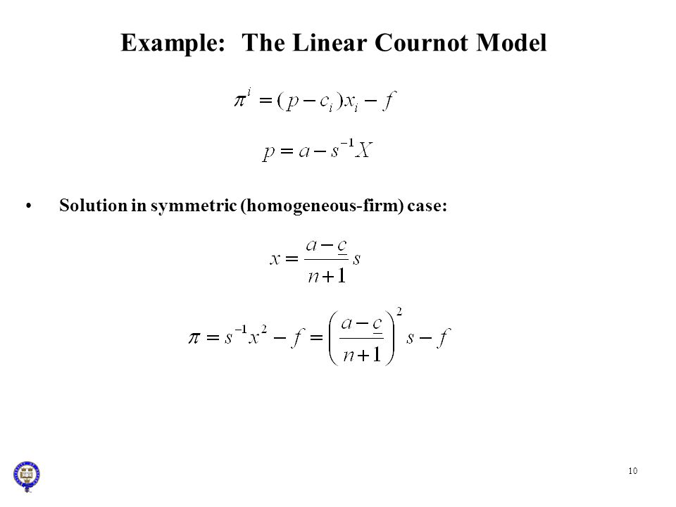 Example: The Linear Cournot Model