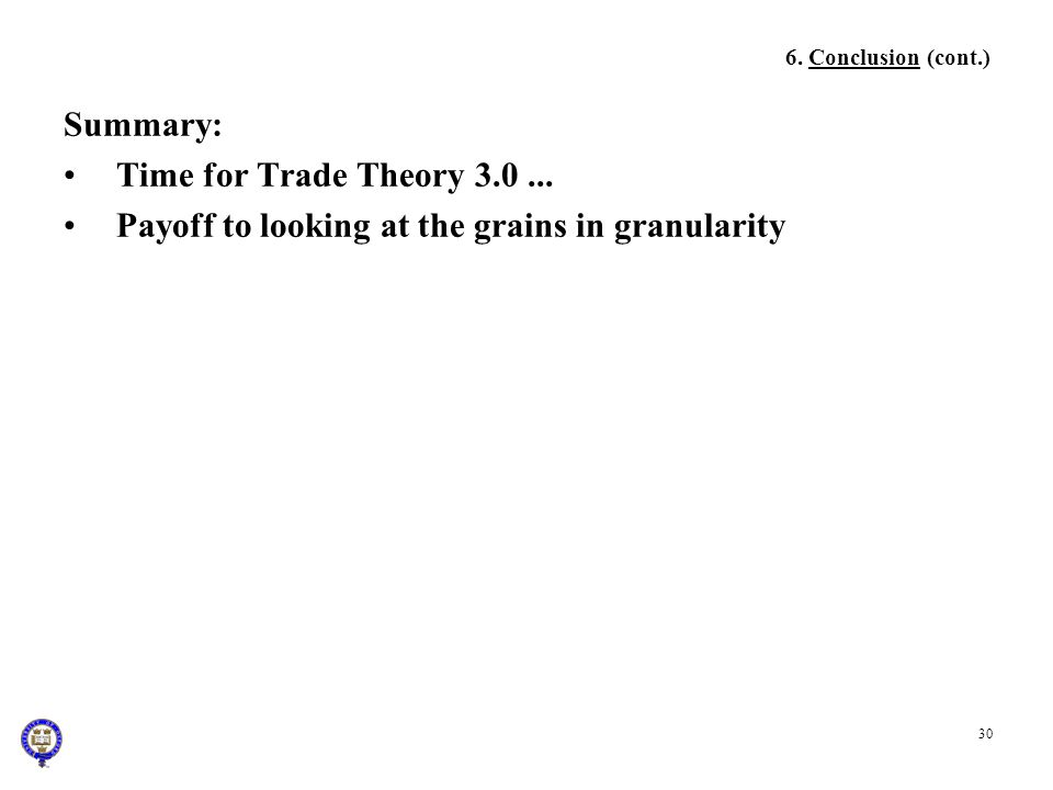 Payoff to looking at the grains in granularity