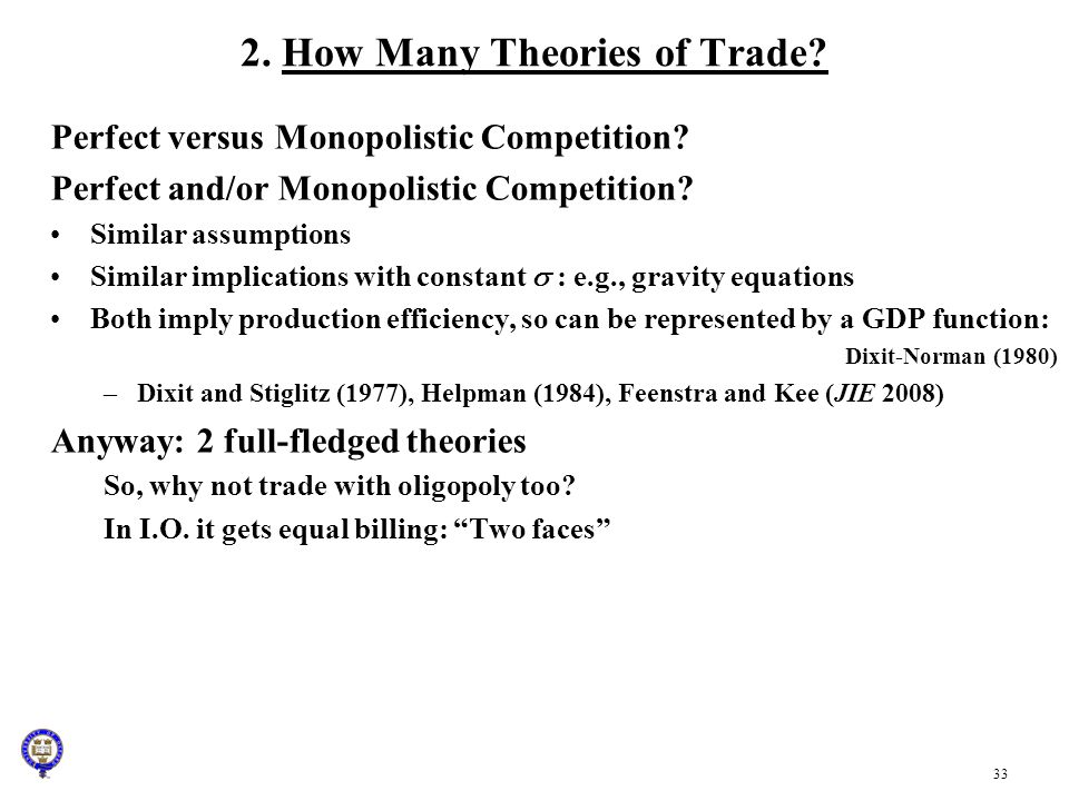 2. How Many Theories of Trade