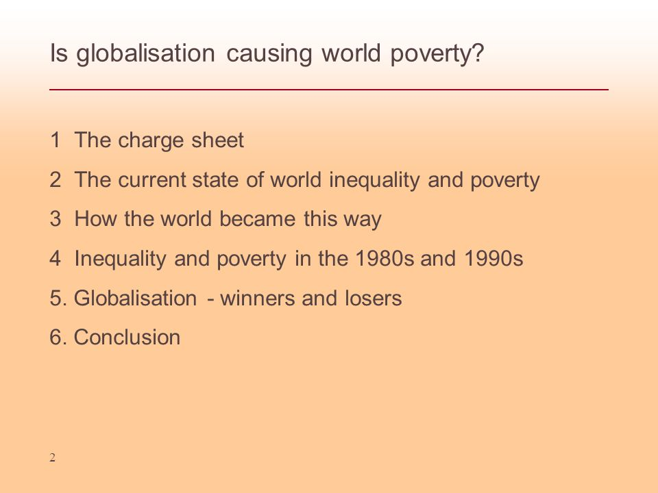 Is globalisation causing world poverty