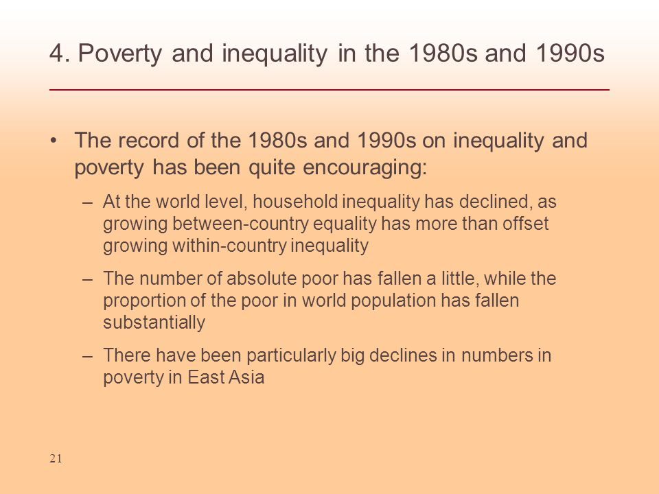 4. Poverty and inequality in the 1980s and 1990s