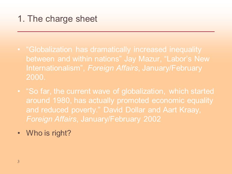 1. The charge sheet