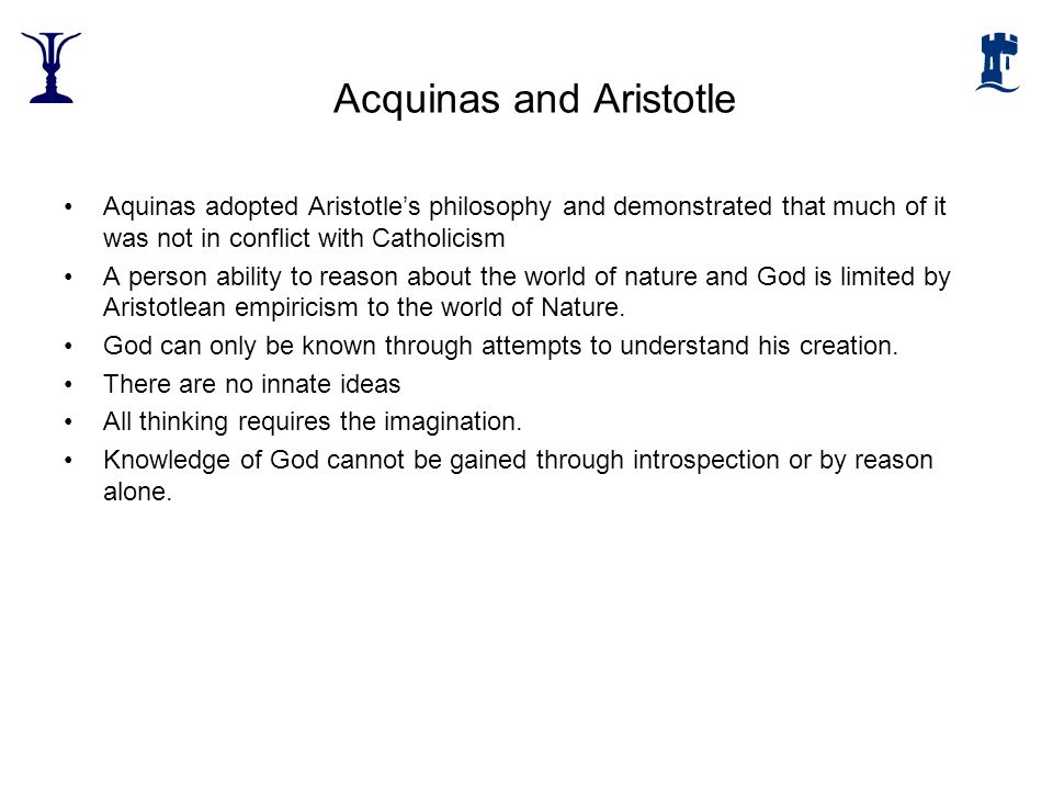 Acquinas and Aristotle