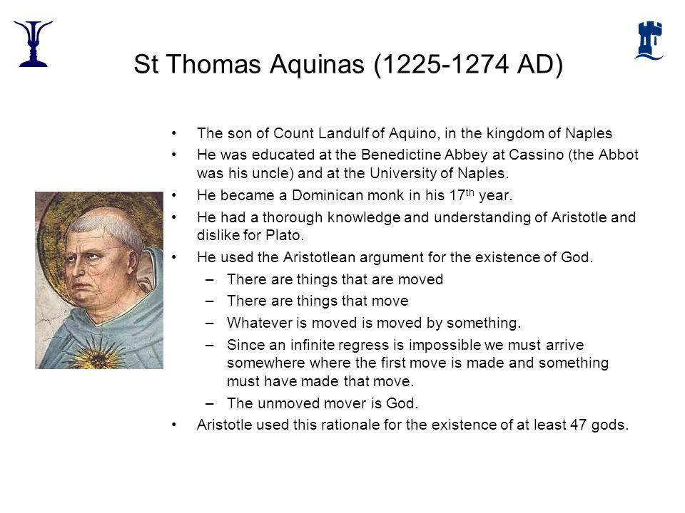 St Thomas Aquinas (1225-1274 AD)