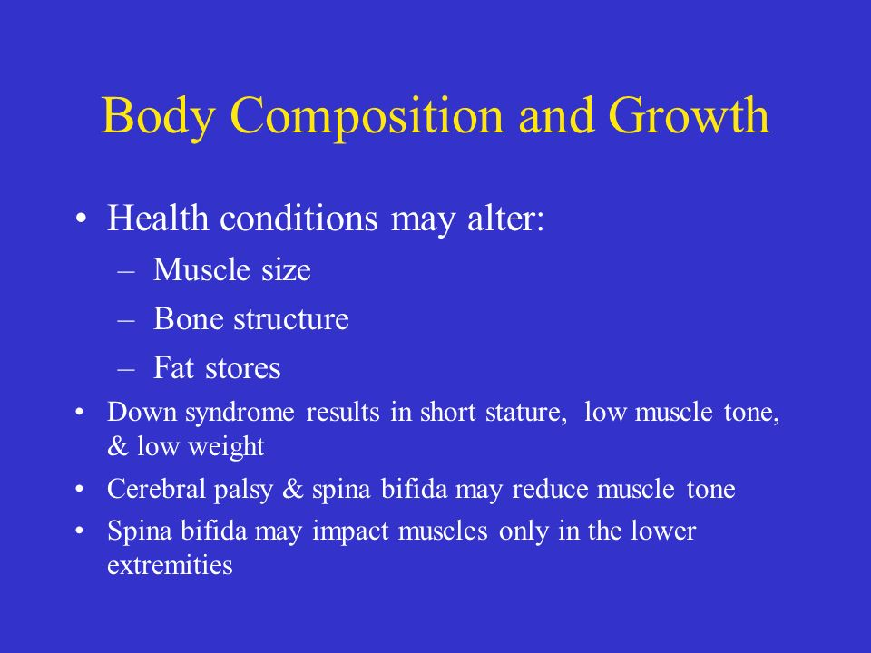 assessing growth maturation and body composition Journal of obesity is a peer-reviewed the multicomponent anthropometric model for assessing body composition in a male pediatric (maturation, body size.