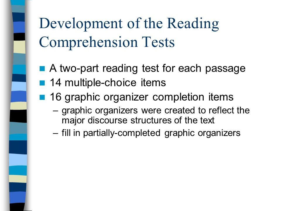 Development of the Reading Comprehension Tests