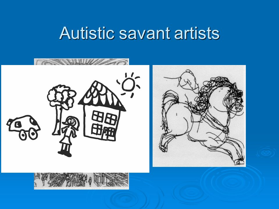 Autistic savant artists