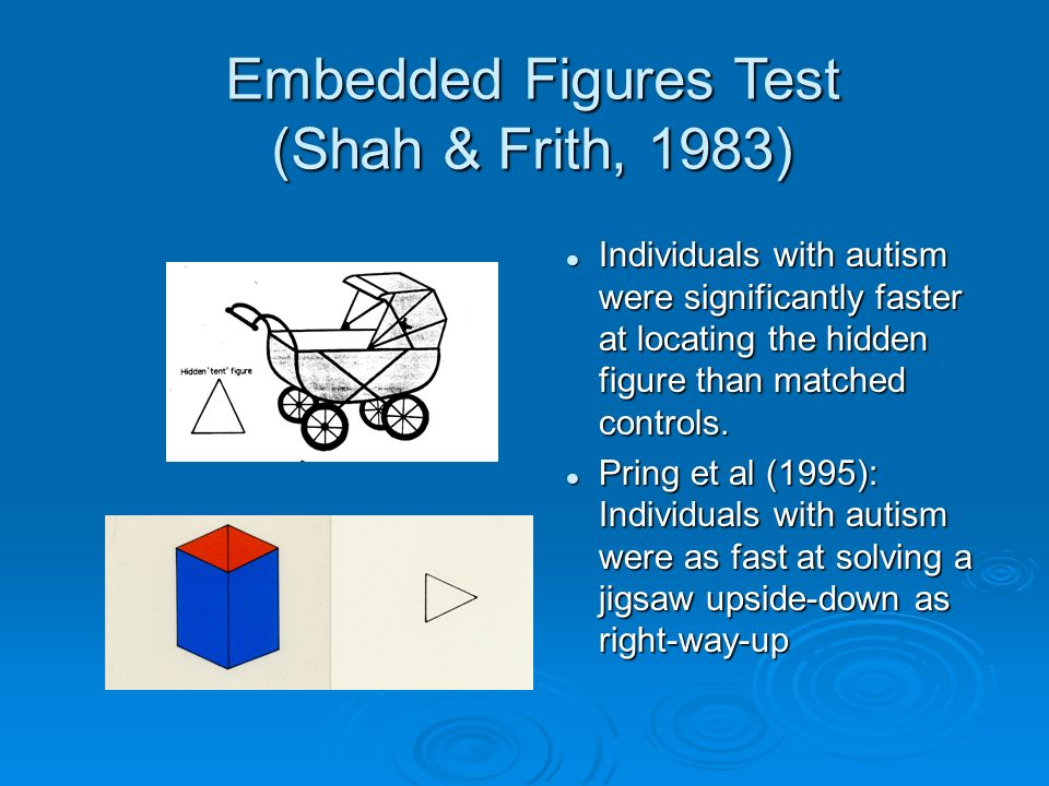 Embedded Figures Test (Shah & Frith, 1983)