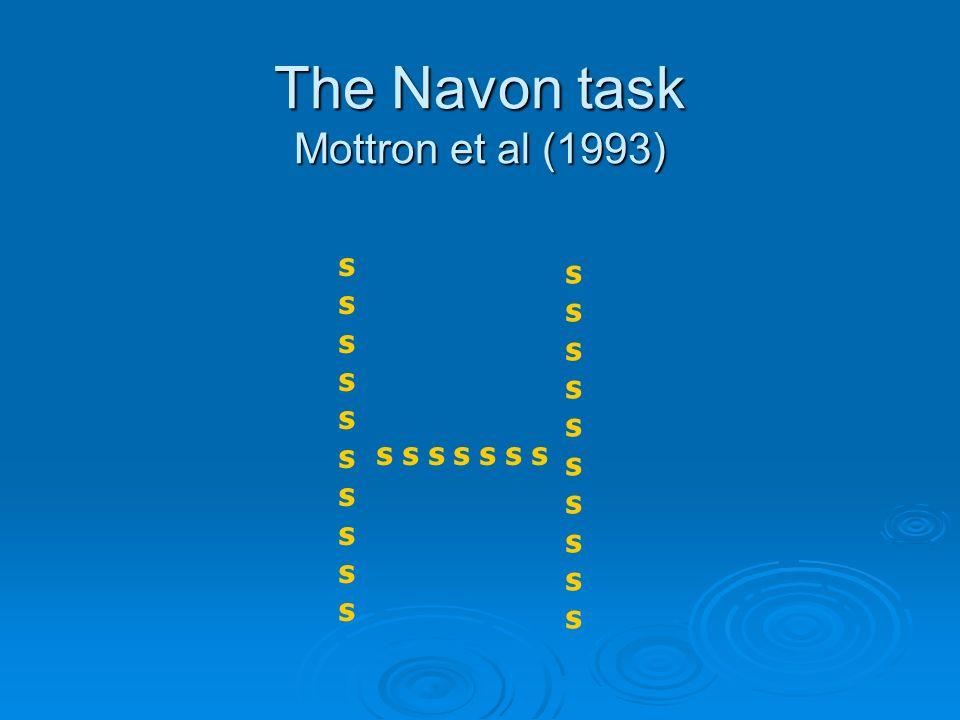 The Navon task Mottron et al (1993)