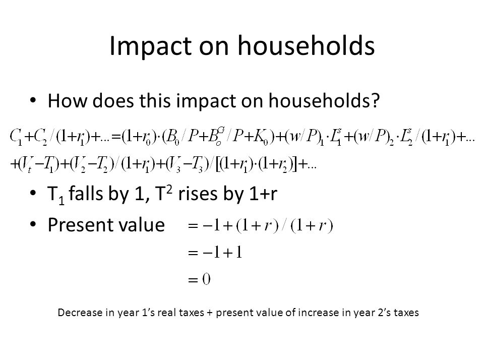 Impact on households How does this impact on households