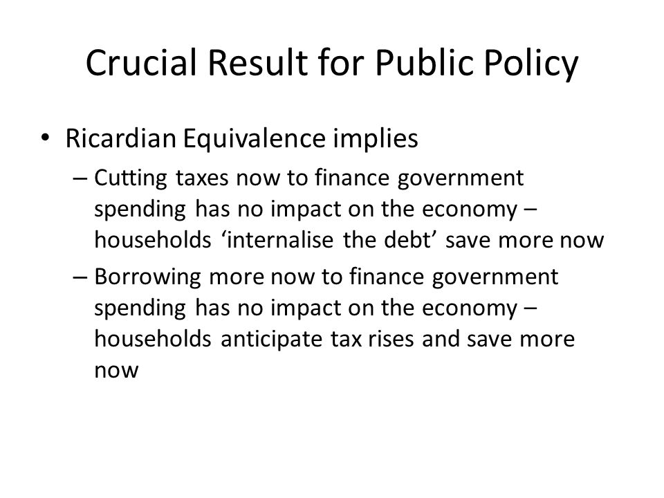 Crucial Result for Public Policy