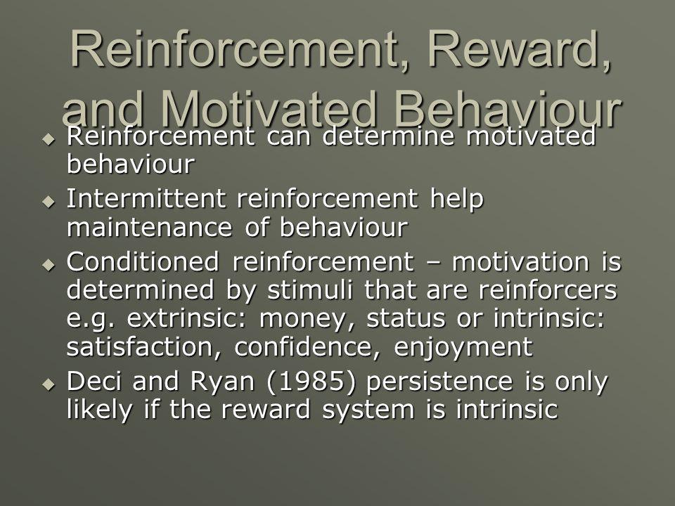 Reinforcement, Reward, and Motivated Behaviour
