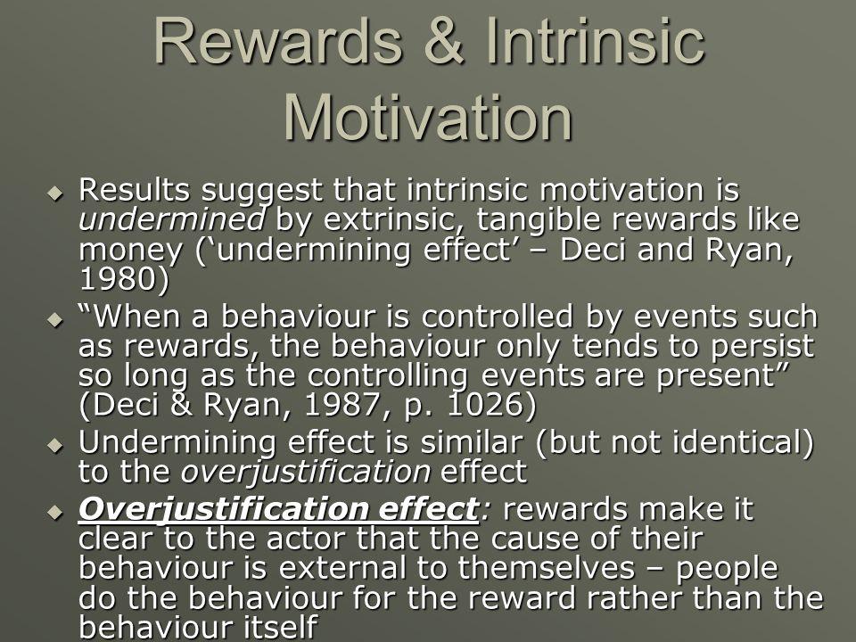Rewards & Intrinsic Motivation