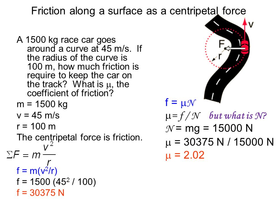 how to find radius in centripetal force