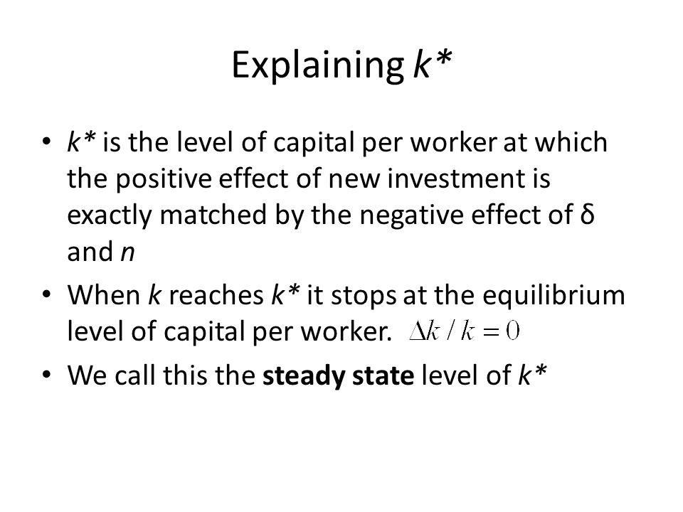 Explaining k*