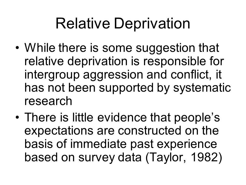 Relative Deprivation