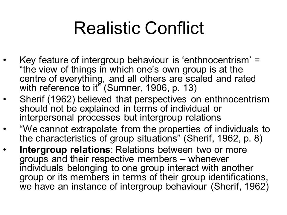 Realistic Conflict