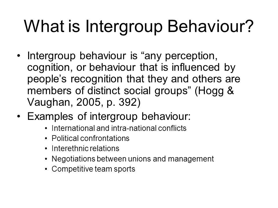 What is Intergroup Behaviour