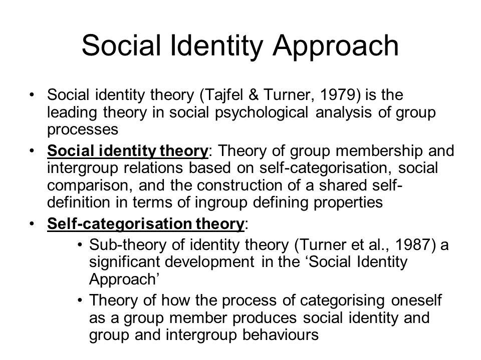 Social Identity Approach