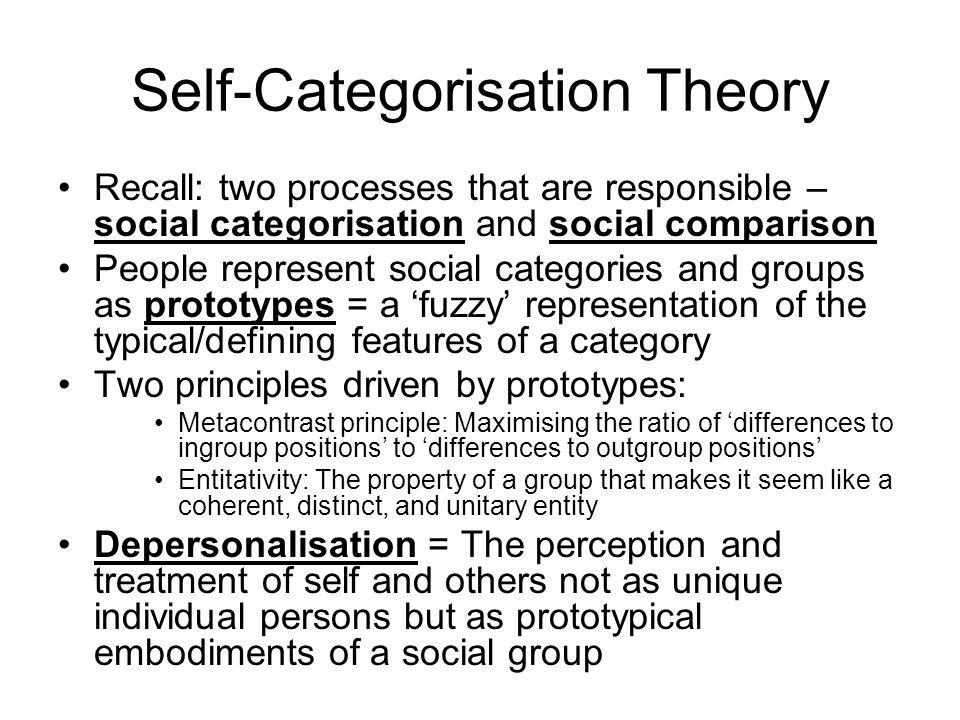 Self-Categorisation Theory
