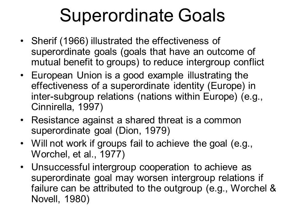 Superordinate Goals
