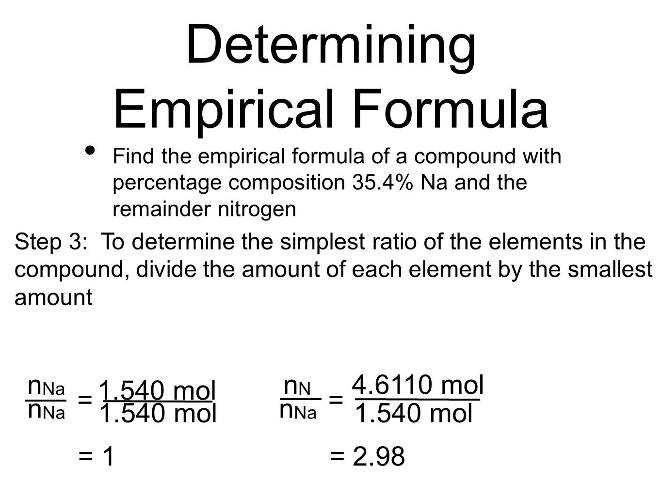 determination of the empirical formula of In this science fair project, students will learn how to calculate the formula for the  thermal decomposition of potassium chlorate.