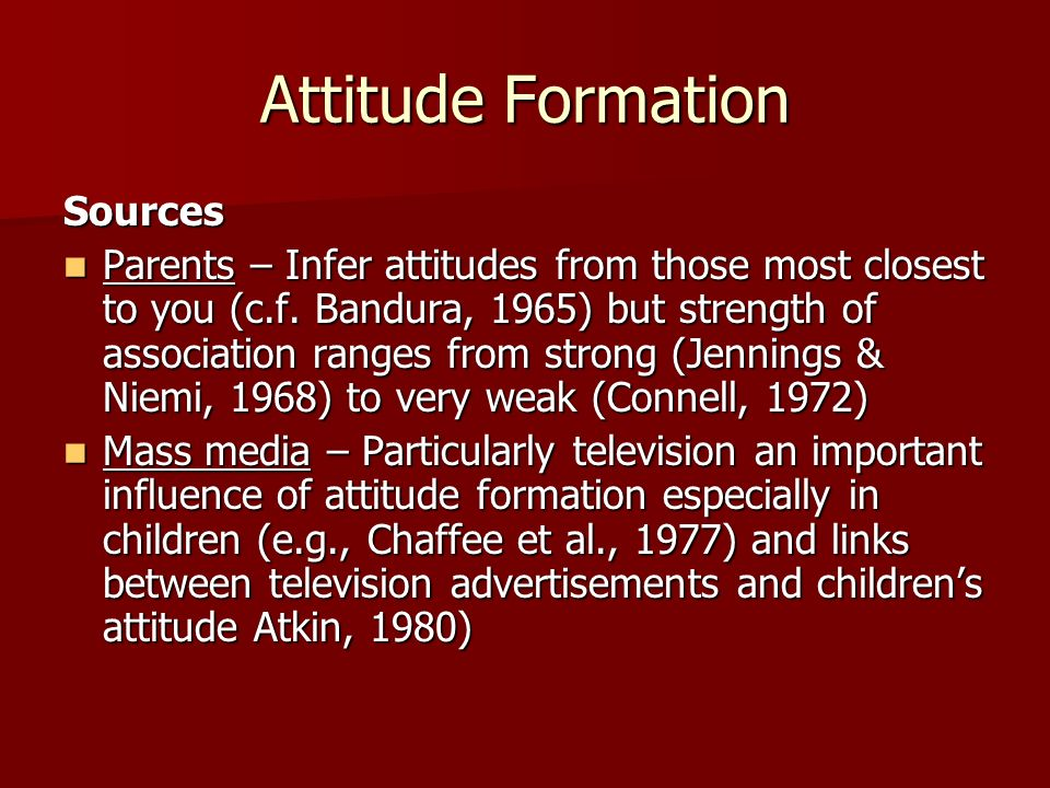 Attitude Formation Sources