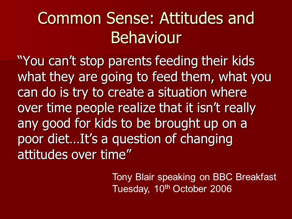 Common Sense: Attitudes and Behaviour