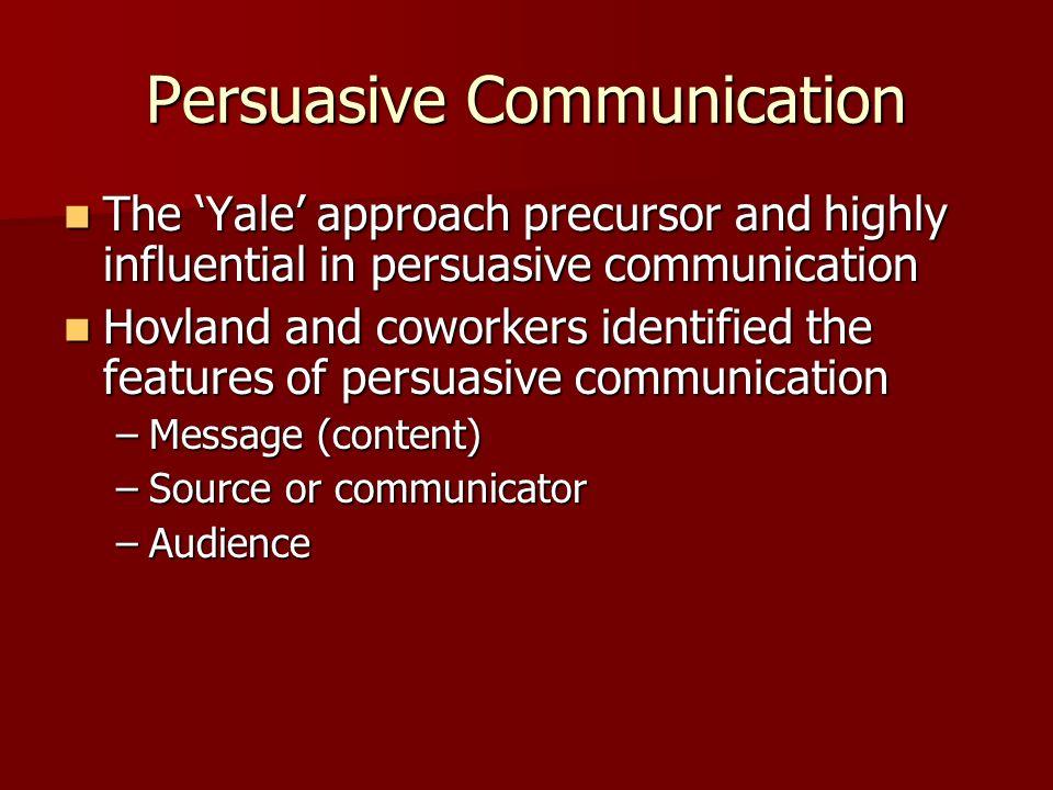 Persuasive Communication