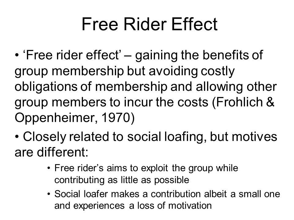 Free Rider Effect