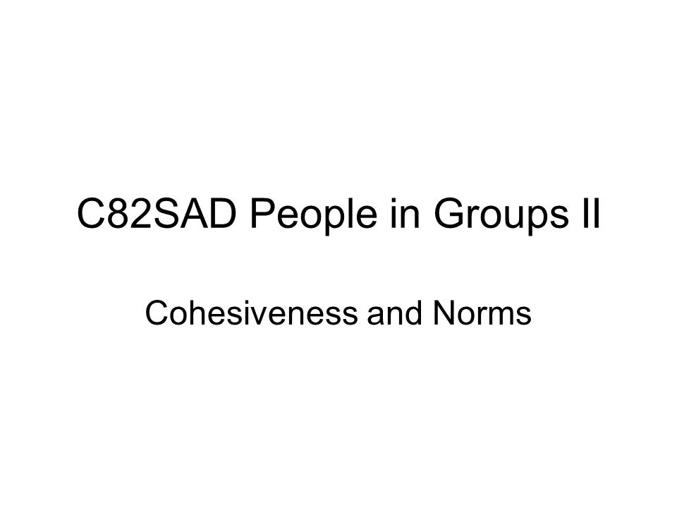 C82SAD People in Groups II