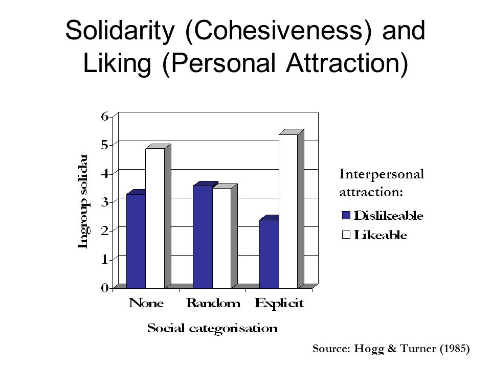 Solidarity (Cohesiveness) and Liking (Personal Attraction)