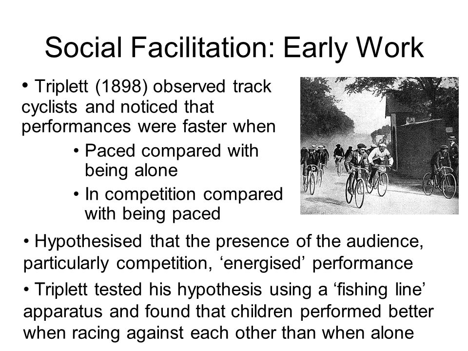 Social Facilitation: Early Work