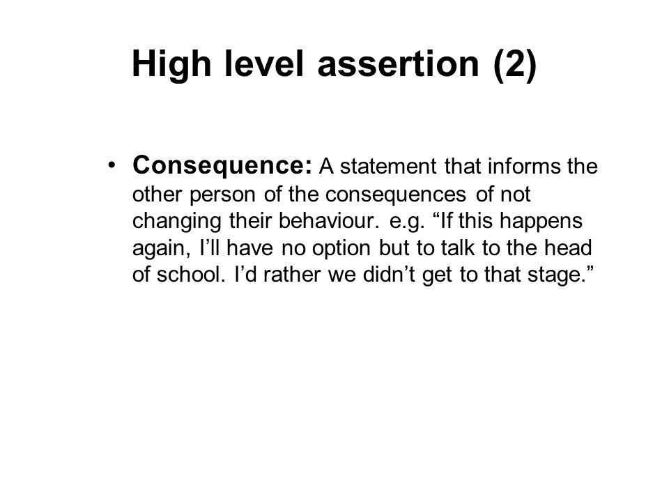 High level assertion (2)